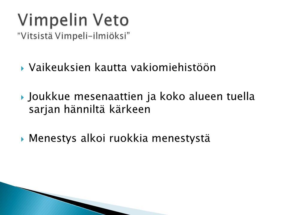 Vimpelin Veto Vitsistä Vimpeli-ilmiöksi