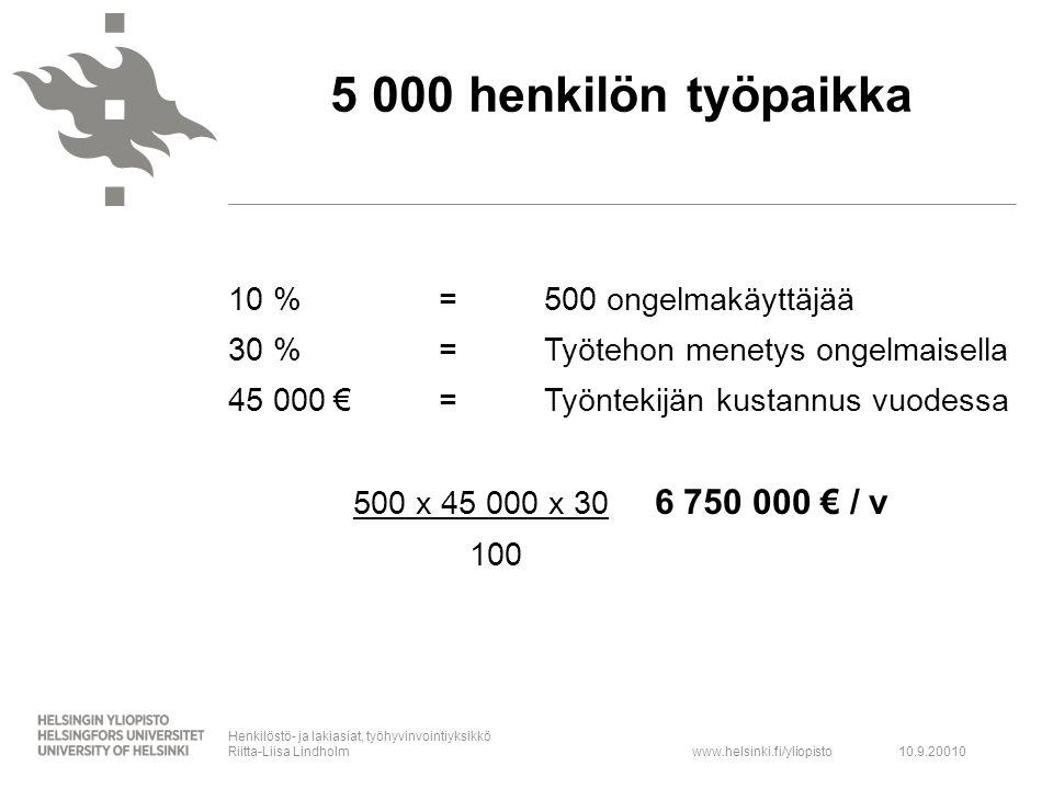 5 000 henkilön työpaikka
