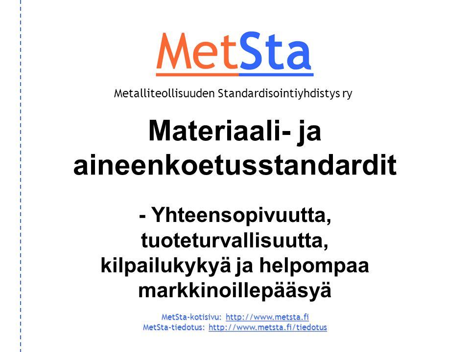 Materiaali- ja aineenkoetusstandardit