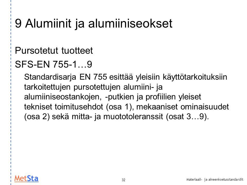 9 Alumiinit ja alumiiniseokset