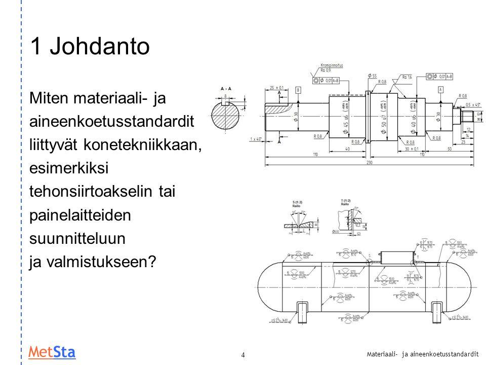 1 Johdanto Miten materiaali- ja aineenkoetusstandardit
