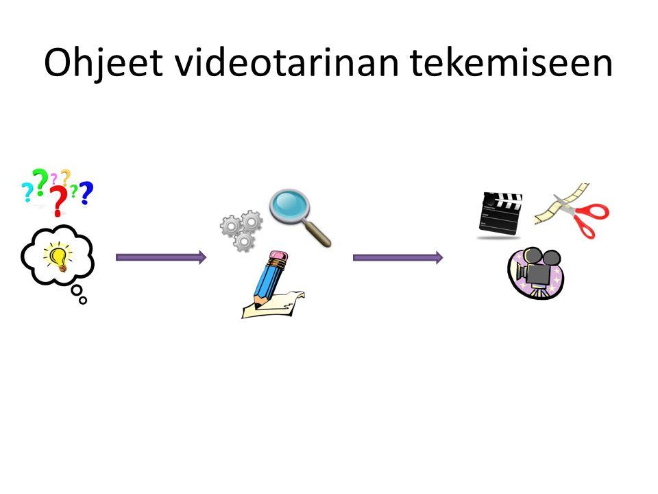 Ohjeet videotarinan tekemiseen