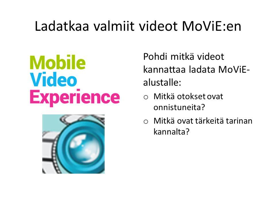 Ladatkaa valmiit videot MoViE:en