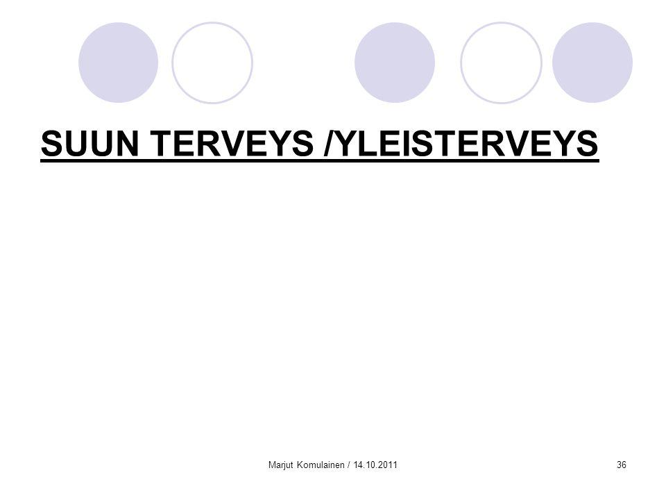 SUUN TERVEYS /YLEISTERVEYS
