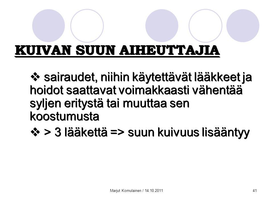 KUIVAN SUUN AIHEUTTAJIA