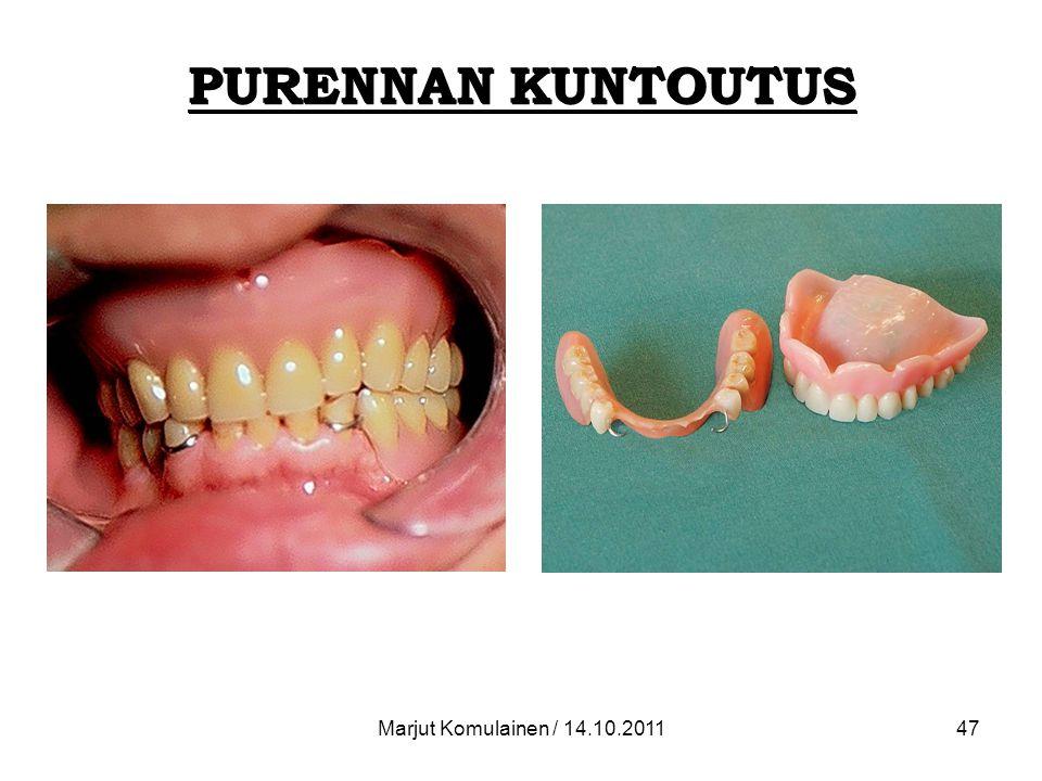 PURENNAN KUNTOUTUS Marjut Komulainen / 14.10.2011