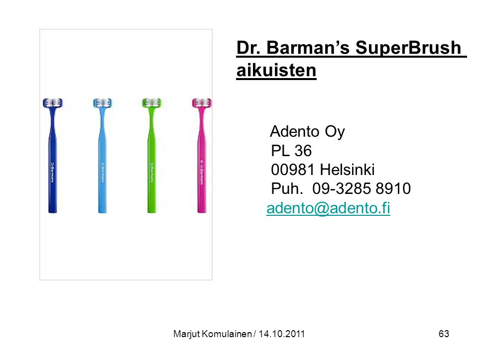 Dr. Barman's SuperBrush aikuisten