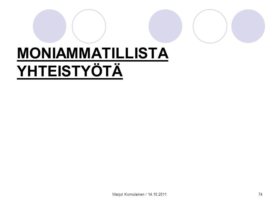 MONIAMMATILLISTA YHTEISTYÖTÄ