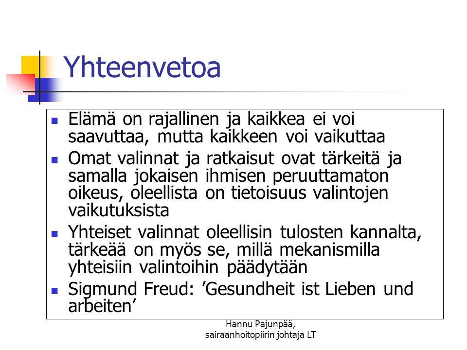 Hannu Pajunpää, sairaanhoitopiirin johtaja LT
