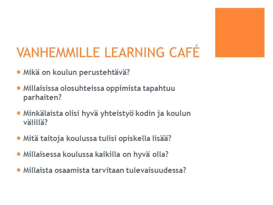 VANHEMMILLE LEARNING CAFÉ