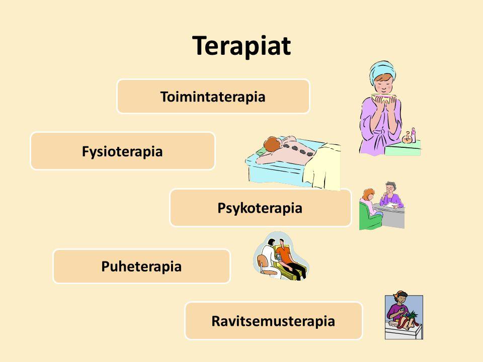 Terapiat Toimintaterapia Fysioterapia Psykoterapia Puheterapia