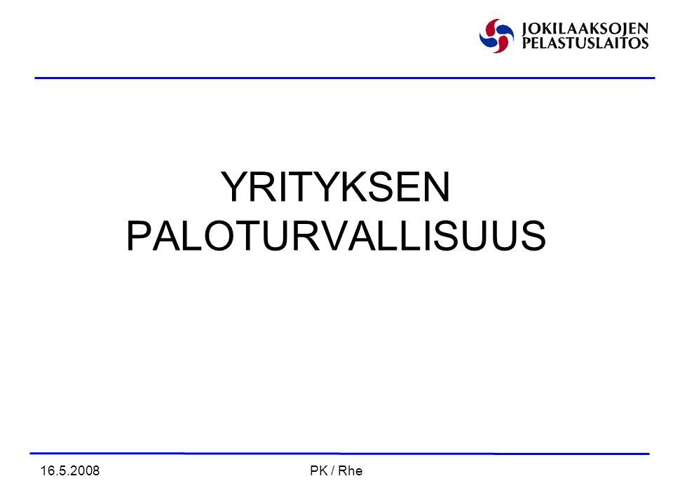 YRITYKSEN PALOTURVALLISUUS