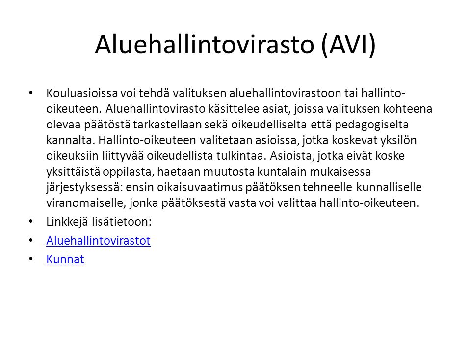 Aluehallintovirasto (AVI)