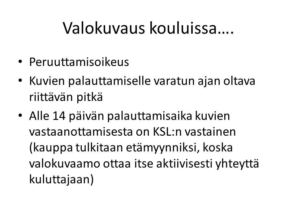 Valokuvaus kouluissa….