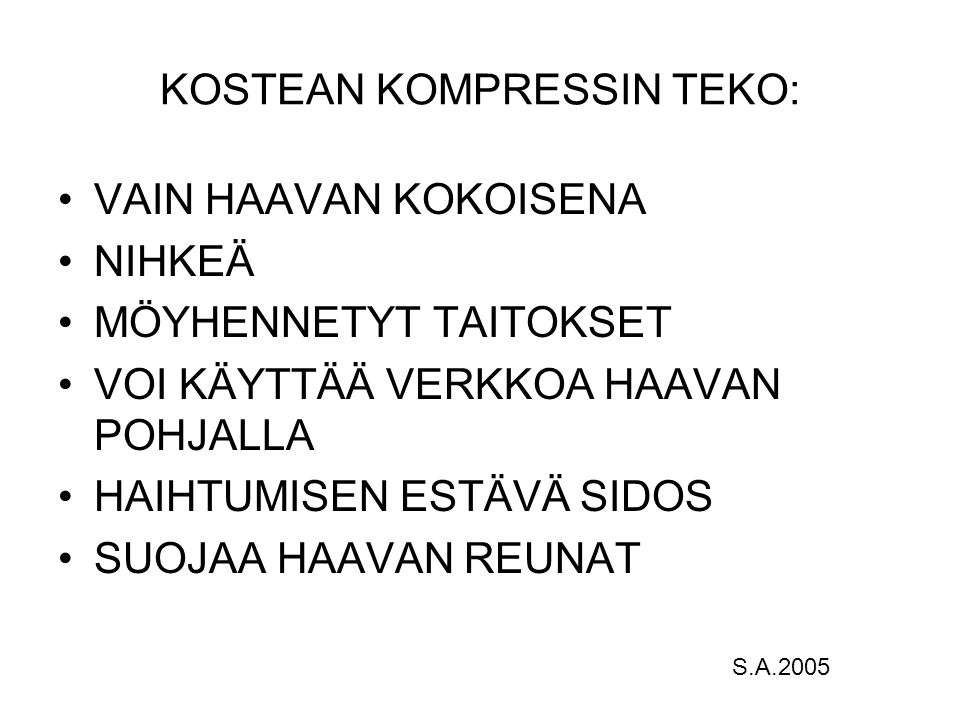 KOSTEAN KOMPRESSIN TEKO: