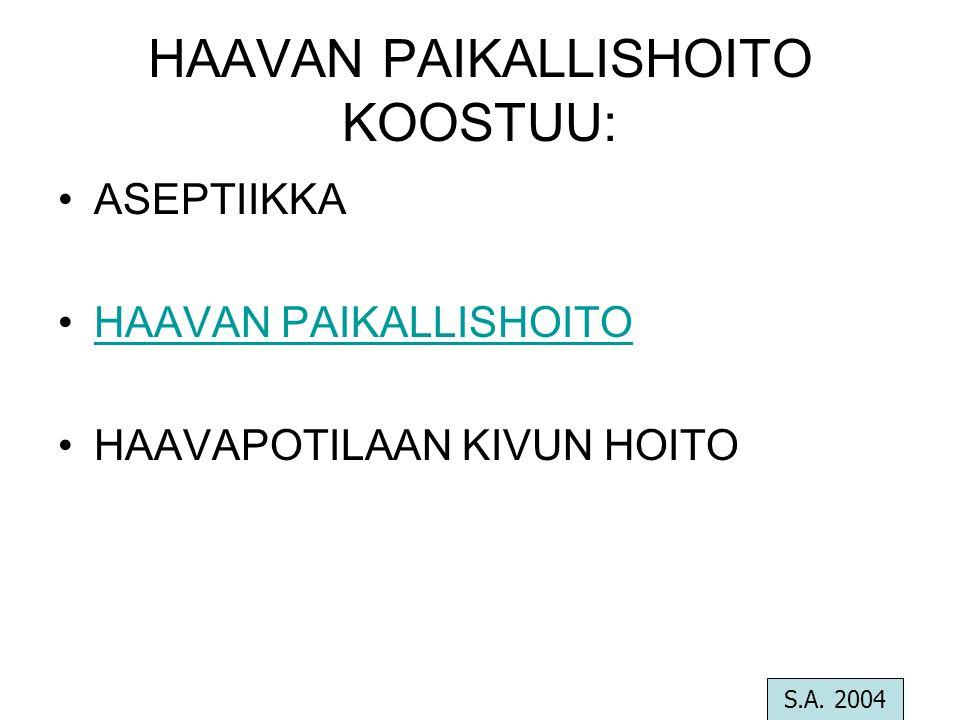 HAAVAN PAIKALLISHOITO KOOSTUU: