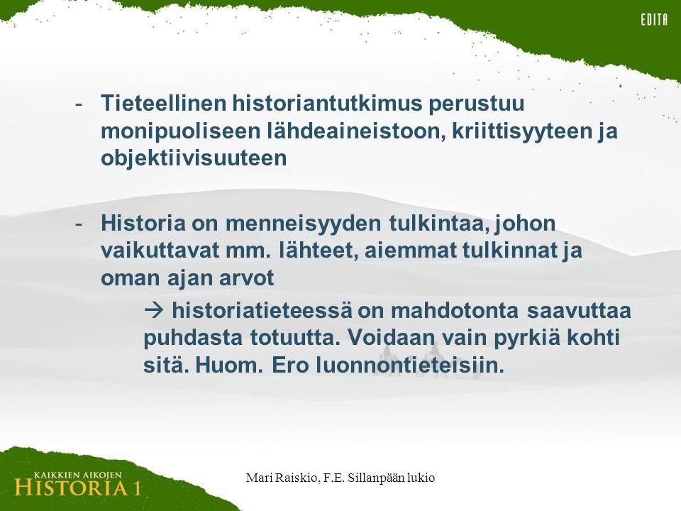 Mari Raiskio, F.E. Sillanpään lukio