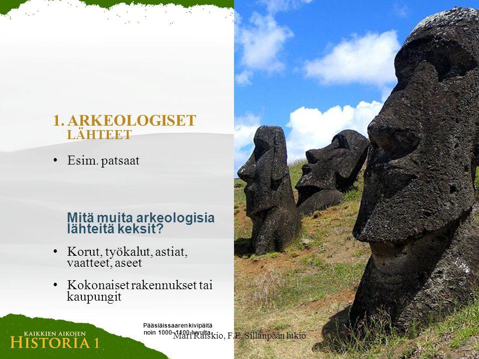 Pääsiäissaaren kivipäitä noin 1000–1100-luvulta.