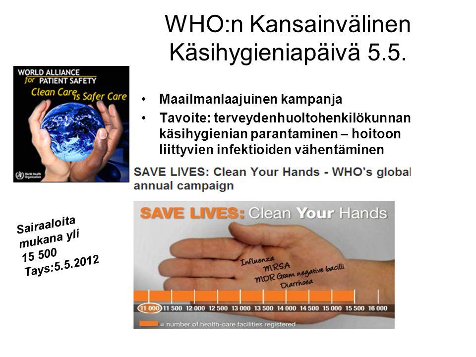 WHO:n Kansainvälinen Käsihygieniapäivä 5.5.