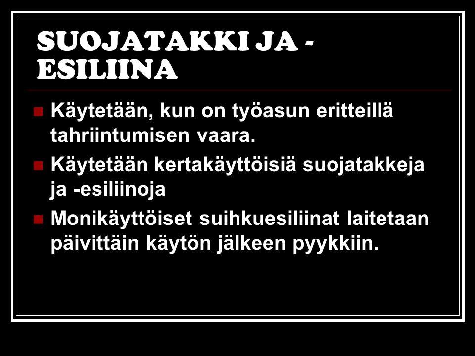SUOJATAKKI JA -ESILIINA