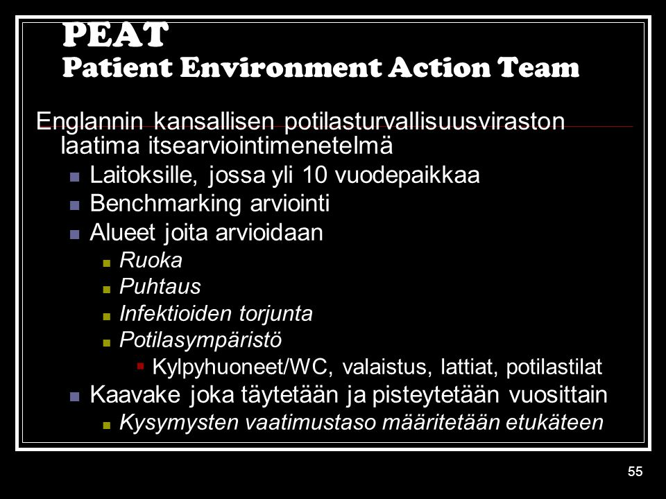 PEAT Patient Environment Action Team