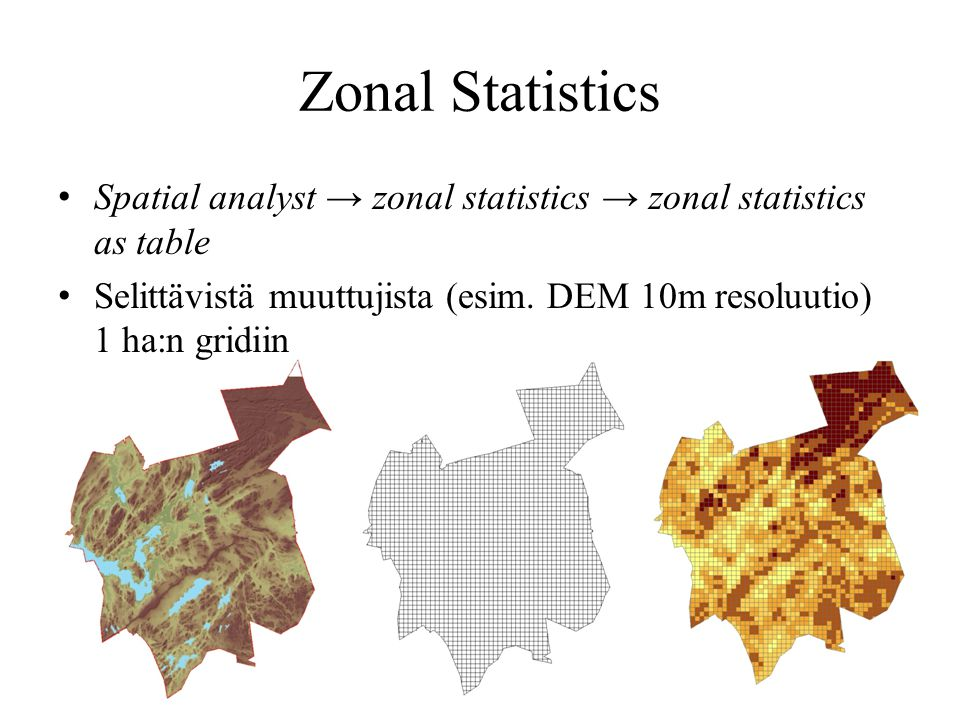 Zonal Statistics Spatial analyst → zonal statistics → zonal statistics as table.