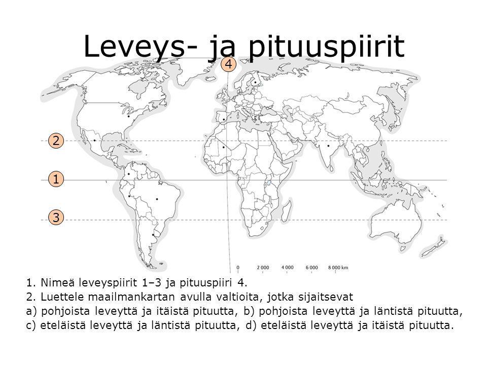 Leveys- ja pituuspiirit