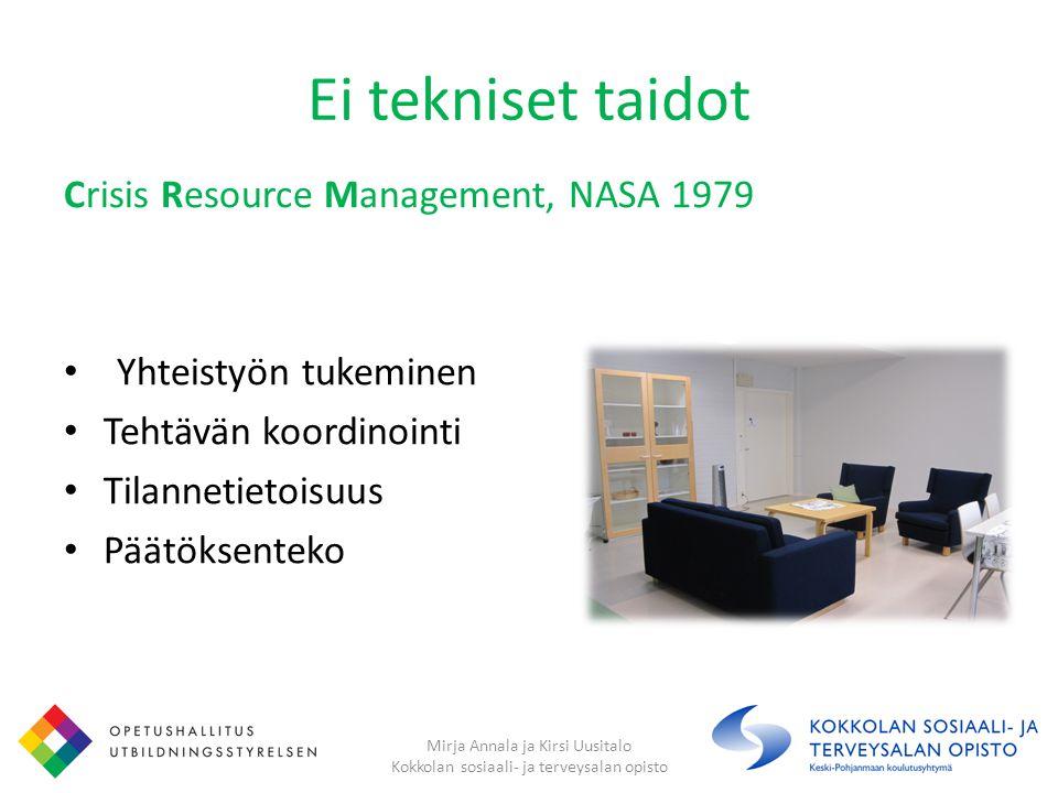 Ei tekniset taidot Crisis Resource Management, NASA 1979