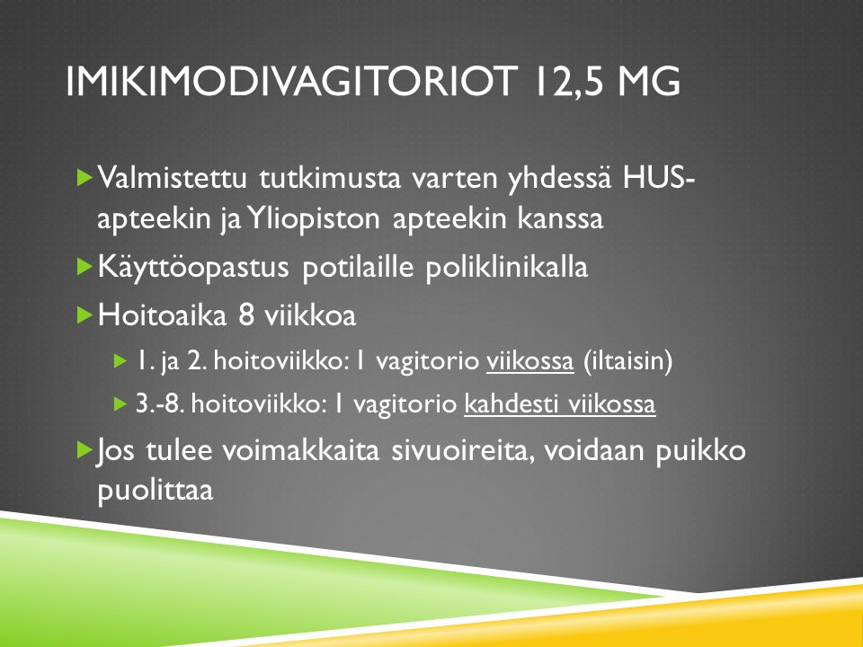 imikimodivagitoriot 12,5 mg