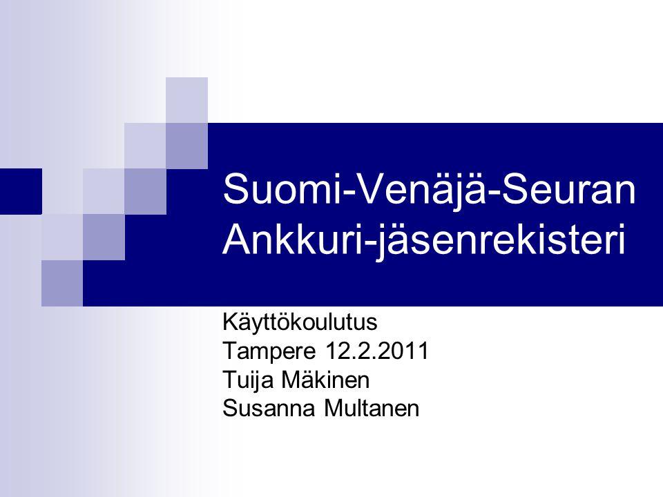Suomi-Venäjä-Seuran Ankkuri-jäsenrekisteri