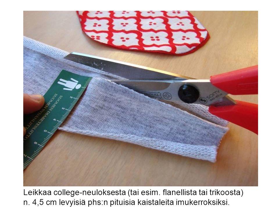 Leikkaa college-neuloksesta (tai esim. flanellista tai trikoosta)