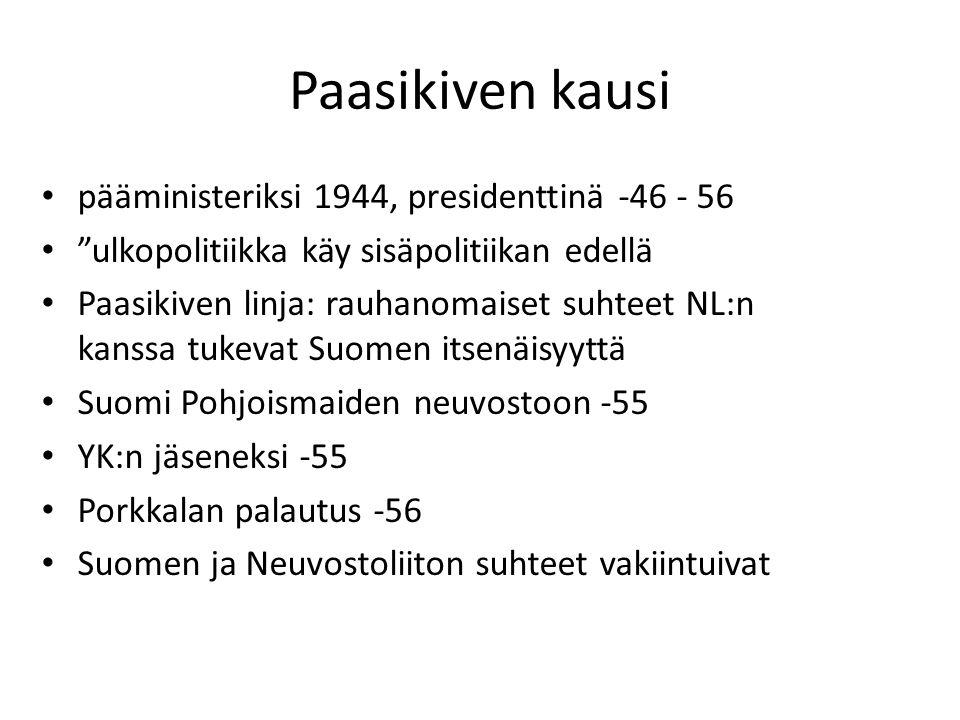 Paasikiven kausi pääministeriksi 1944, presidenttinä -46 - 56