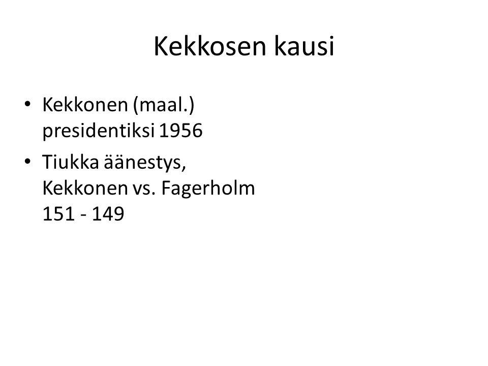 Kekkosen kausi Kekkonen (maal.) presidentiksi 1956