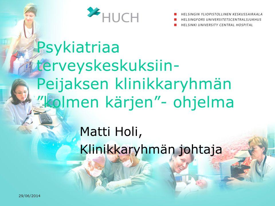Matti Holi, Klinikkaryhmän johtaja