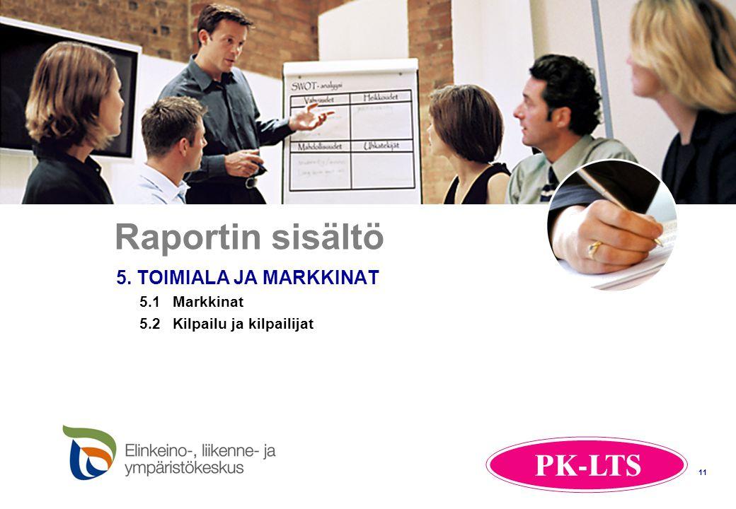 Raportin sisältö 5. TOIMIALA JA MARKKINAT 5.1 Markkinat