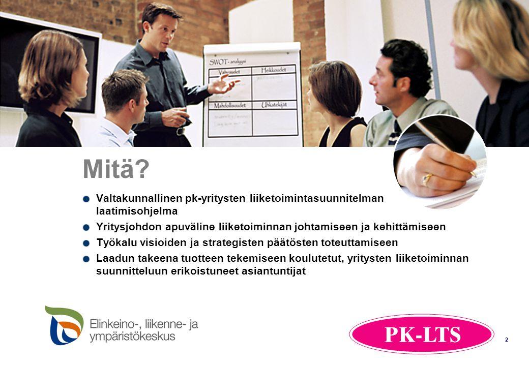 Mitä Valtakunnallinen pk-yritysten liiketoimintasuunnitelman laatimisohjelma. Yritysjohdon apuväline liiketoiminnan johtamiseen ja kehittämiseen.