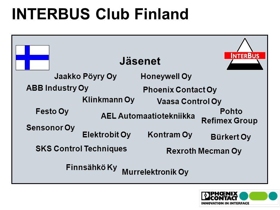 INTERBUS Club Finland Jäsenet Jaakko Pöyry Oy Honeywell Oy