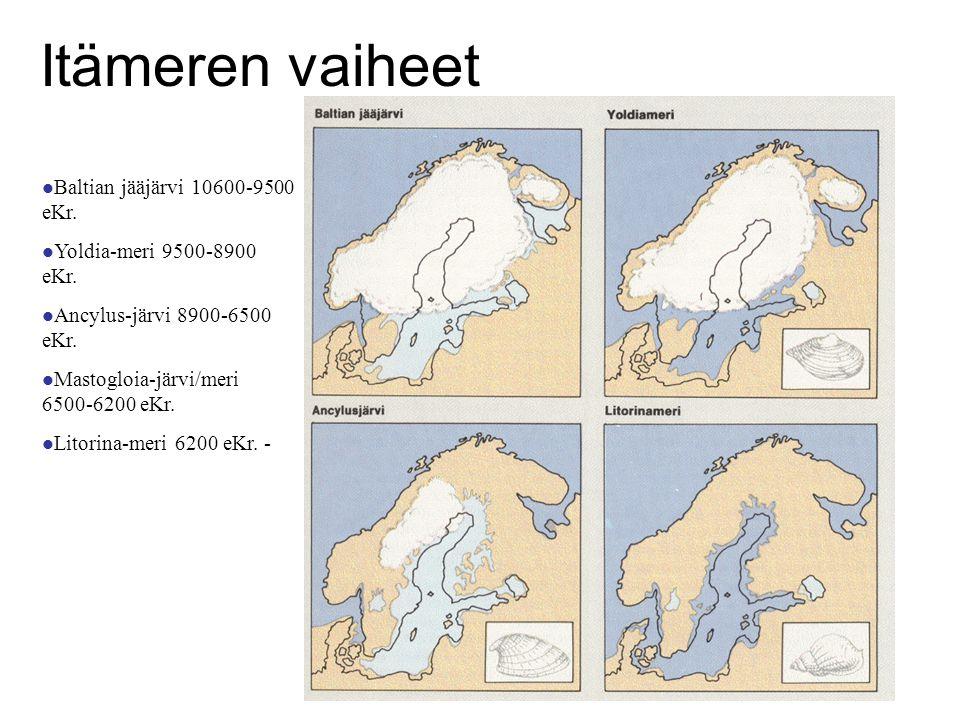 Itämeren vaiheet Baltian jääjärvi 10600-9500 eKr.