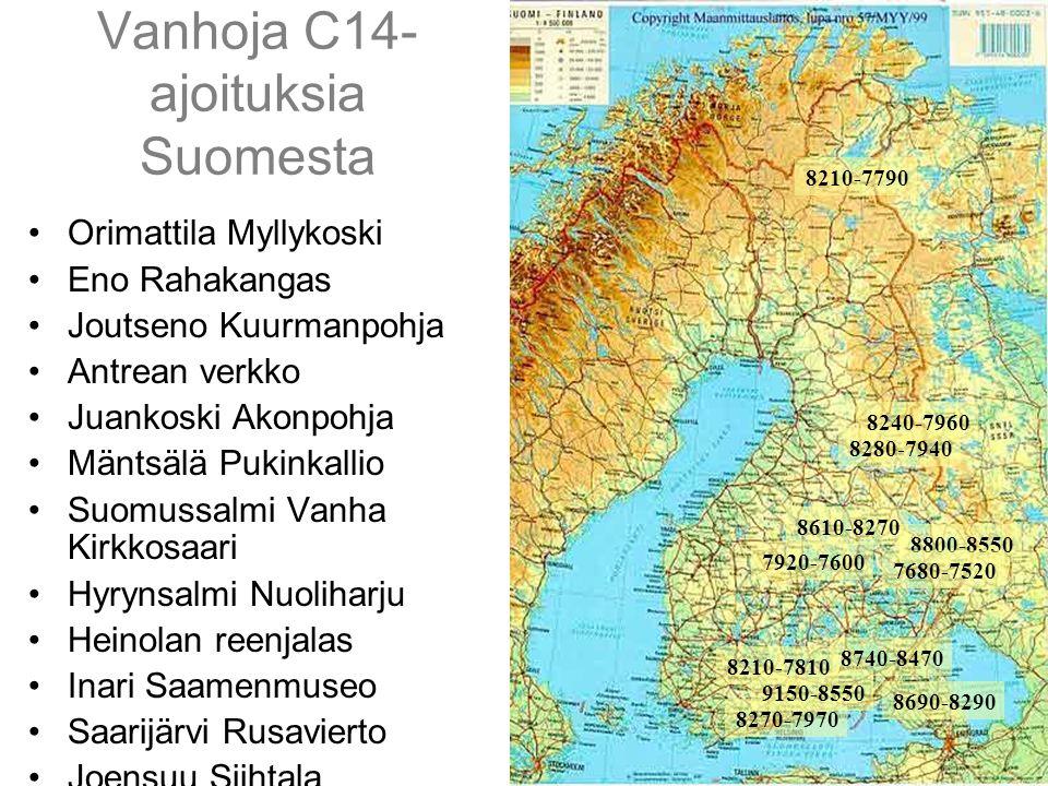 Vanhoja C14- ajoituksia Suomesta