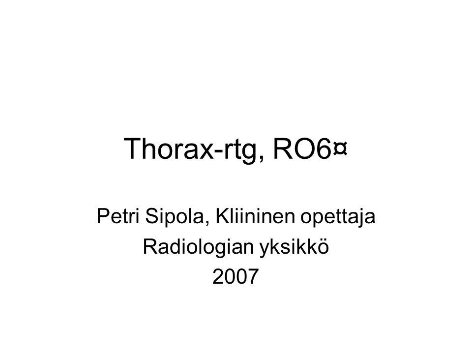 Petri Sipola, Kliininen opettaja Radiologian yksikkö 2007