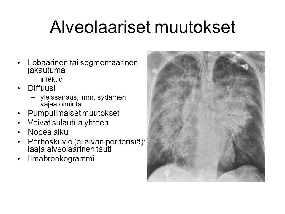 Alveolaariset muutokset