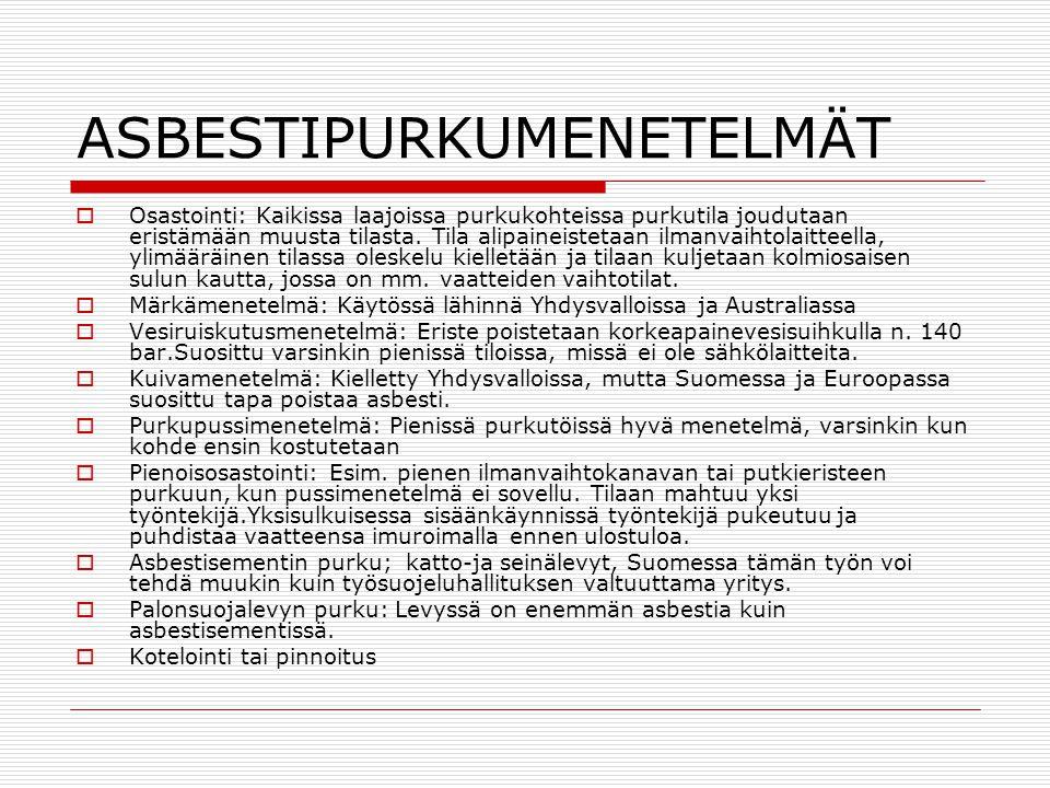 ASBESTIPURKUMENETELMÄT