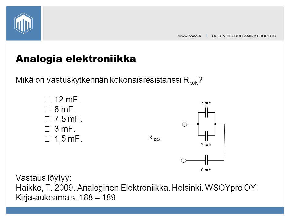 Analogia elektroniikka