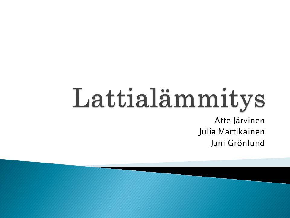 Atte Järvinen Julia Martikainen Jani Grönlund