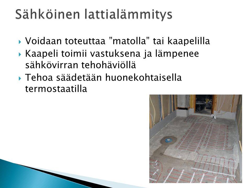 Sähköinen lattialämmitys