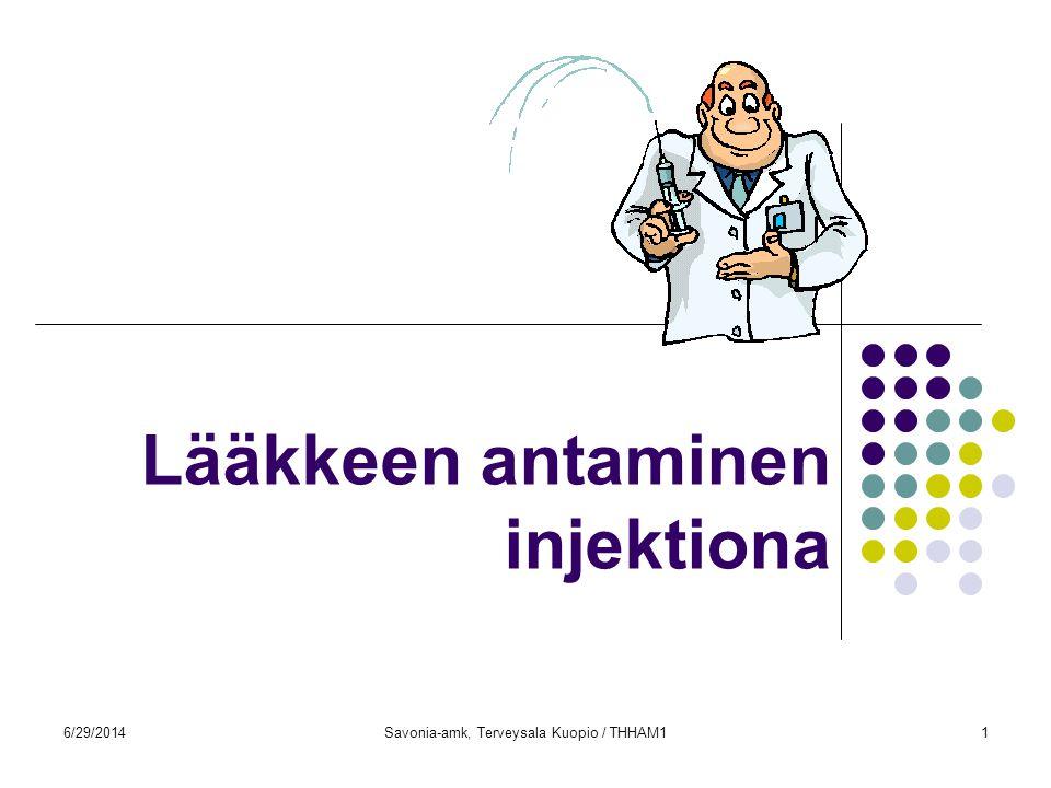 Lääkkeen antaminen injektiona
