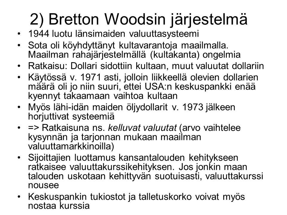 2) Bretton Woodsin järjestelmä