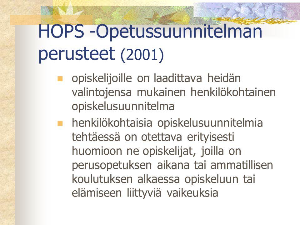 HOPS -Opetussuunnitelman perusteet (2001)