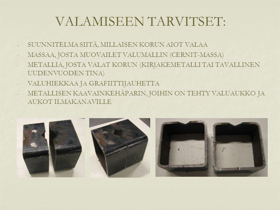 VALAMISEEN TARVITSET: