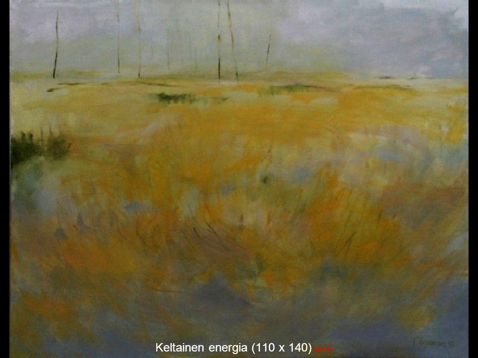 Keltainen energia (110 x 140) MYYTY